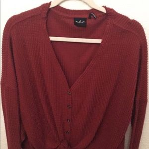 Thermal Maroon Long Sleeve (Urban Outfitters)